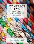Contract law : text, cases, and materials