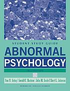 Study guide to accompany Abnormal Psychology, 10th ed.