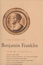 The papers of Benjamin Franklin. Vol.30, July 1 through October 31, 1779