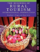 The business of rural tourism : international perspectives