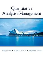 Quantitative analysis for management.
