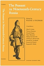The Peasant in nineteenth-century Russia,