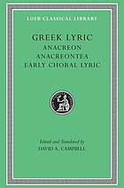 Lyra Graeca : being the remains of all the Greek lyric poets from Eumelus to Timotheus excepting Pindar ; in 3 volumes. 2, Stesichorus [u.a.]