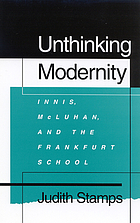 Unthinking modernity : Innis, McLuhan, and the Frankfurt School