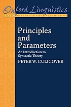 Principles and parameters : an introduction to syntactic theory