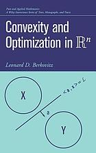 Convexity and optimization in R [superscript n]