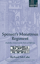 Spenser's monstrous regiment : Elizabethan Ireland and the poetics of difference