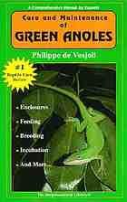 The general care and maintenance of green anoles