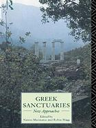 Greek Sanctuaries: New Approaches cover image