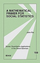Mathematical Primer for Social Statistics cover image