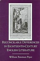 Reconcilable differences in eighteenth-century English literature