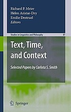 Text, time, and context : selected papers of Carlota S. Smith