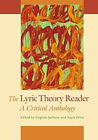 The lyric theory reader : a critical anthology