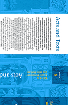 Acts and texts : performance and ritual in the Middle Ages and the Renaissance