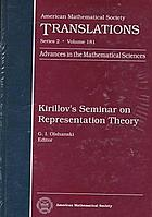 Kirillov's seminar on representation theory