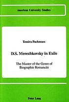 D.S. Merezhkovsky in exile : the master of the genre of biographie romancée