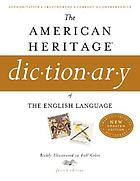 The American Heritage dictionary of the English language.