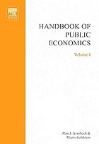 Handbook of public economics / 4.