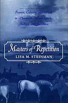 Masters of repetition : poetry, culture, and work in Thomson, Wordsworth, Shelley, and Emerson