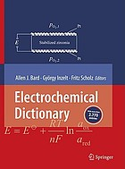 Electrochemical dictionary : [with more than 2.770 entries] ; with 18 tables