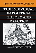 The individual in political theory and practice
