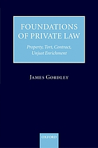Foundations of private law : property, tort, contract, unjust enrichment