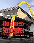 Business statistics : a decision-making approach