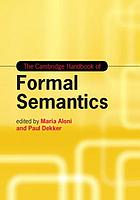 The Cambridge handbook of formal semantics