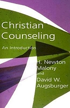 Christian counseling : an introduction