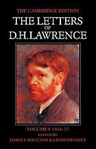 The letters of D.H. Lawrence. Vol. 5, March 1924-March 1927