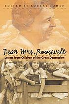Dear Mrs letters from children of the Great Depression