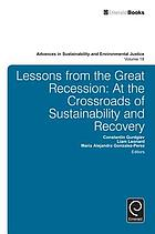Lessons from the great recession : at the crossroads of sustainability and recovery