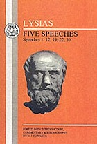 Five speeches : speeches 1, 12, 19, 22, 30