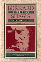 Bernard Shaw's book reviews. Volume 2, 1884 to 1950