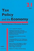 Tax policy and the economy. / 21