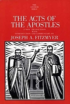 The acts of the Apostles : a new translation with introduction and commentary