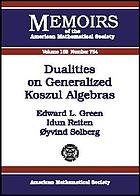Dualities on generalized Koszul algebras