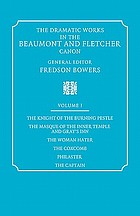 The dramatic works in the Beaumont and Fletcher canon, / Volume I