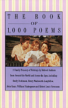 The Book of 1,000 poems.