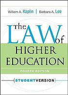 The law of higher education, student version