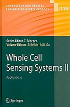 Whole cell sensing systems.