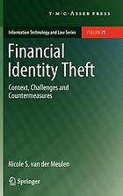 Financial identity theft : context, challenges and countermeasures