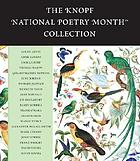 The Knopf National Poetry Month collection.