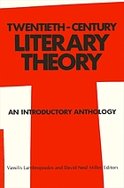 Twentieth century literary theory : an introductory anthology