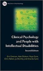 Clinical Psychology and People with Intellectual Disabilities.