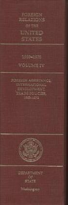 Foreign assistance, international development, trade policies, 1969-1972