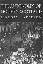 The autonomy of modern Scotland