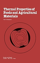 Thermal properties of foods and agricultural materials