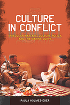 Culture in conflict : irregular warfare, culture policy, and adaptation in the marine corps