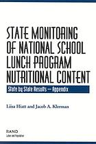 State monitoring of national school lunch program nutritional content